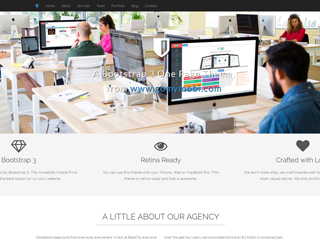 gomymobi.com - Téma: Shield: Agency One Page