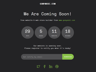 gomymobi.com - Тема: Soon: Site Countdown